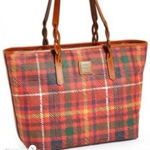 Dooney & Bourke Red Plaid Tote Perfect for fall!
